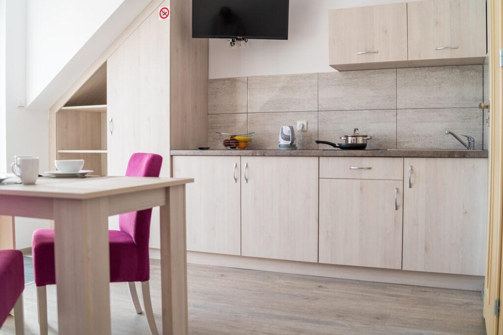 zdjęcie apartament z aneksem kuchennym