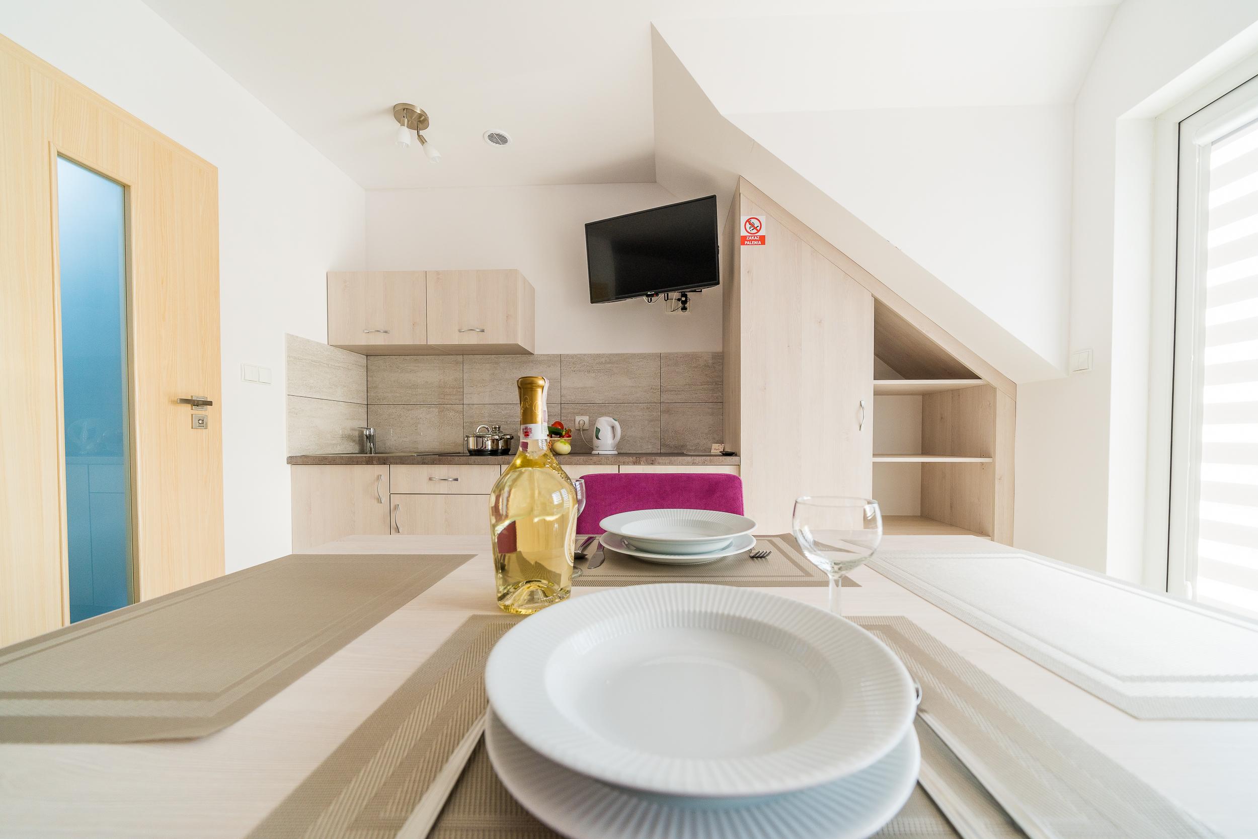 przestronny pokoj z aneksem kuchennym