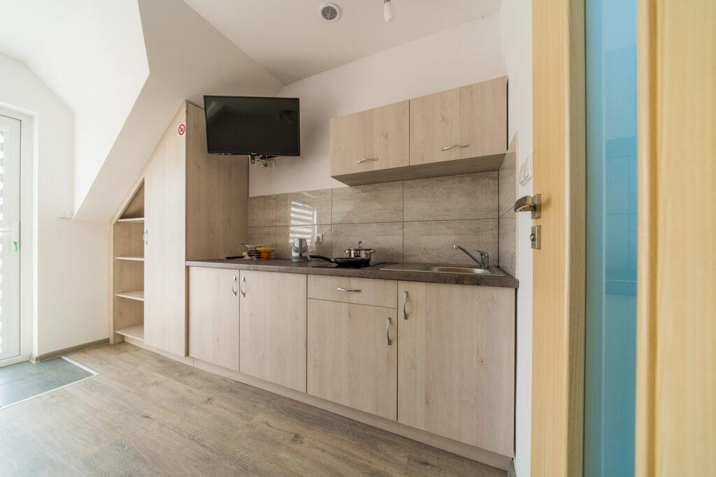 apartament z wlasnym wejsciem kuchnia