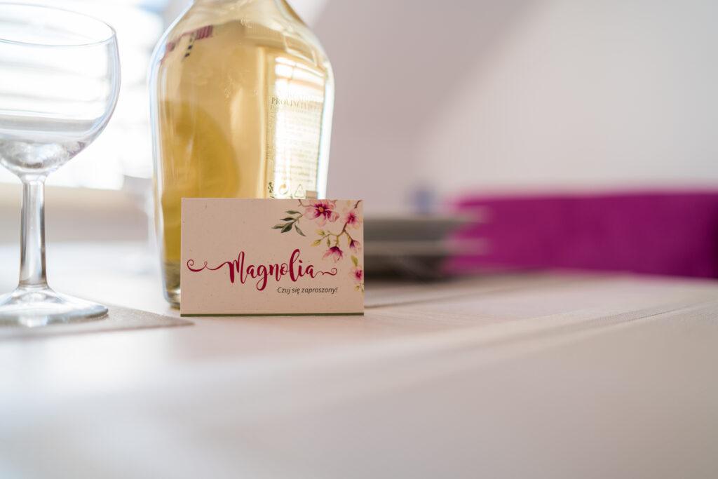 magnolia zapraszamy wizytowka